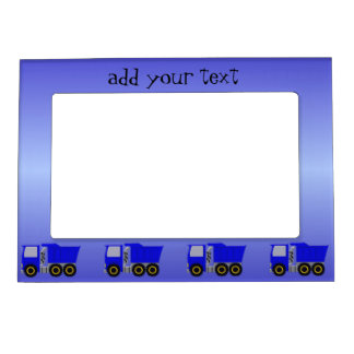 Big Blue Truck Just Add Text Magnetic Photo Frame