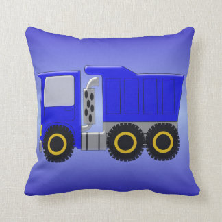 Big Blue Truck Throw Pillow