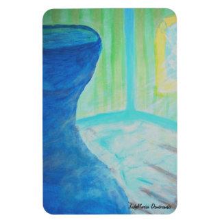 Big Blue Vase in Bare Room Rectangular Photo Magnet