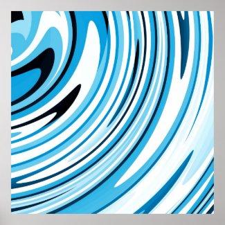 Big Blue Wave Poster