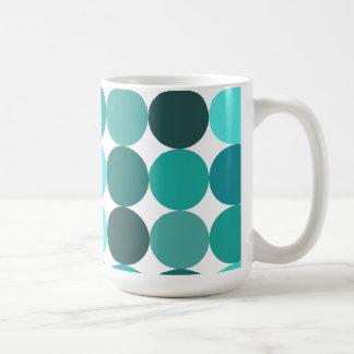 Big Bluegreen Polka Dots Coffee Mug