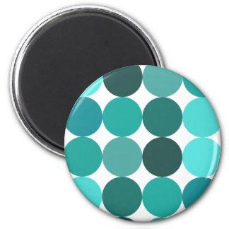 Big Bluegreen Polka Dots Magnets