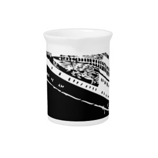 big boat in sea drink pitcher