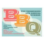 Big Bold BBQ Invitation