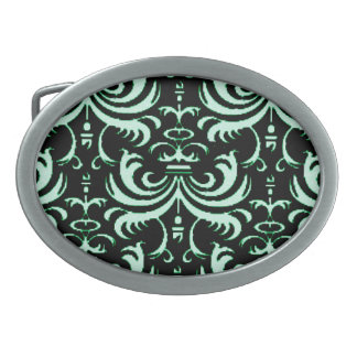 Big Bold Damask (Apple Green) Belt Buckle