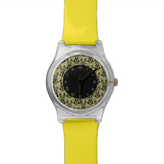 Big Bold Damask (Golden) (Monogram) Watches