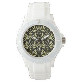 Big Bold Damask (Golden) (Monogram) Wrist Watch