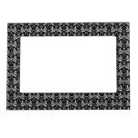 Big Bold Damask (White) Photo Frame Magnets