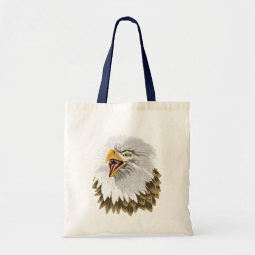 Big,Bold Eagle Head  Bag