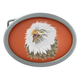 Big, Bold Eagles Head Buckle Oval Belt Buckle