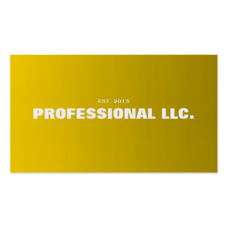 Big, bold, easy to read gold business card