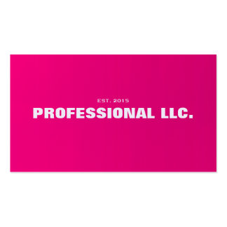 Big, bold, easy to read pink business card