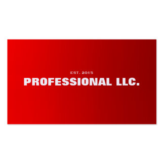 Big, bold, easy to read red business card