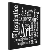 Big Bold Inspiration - Artists Creativity Words Canvas Print