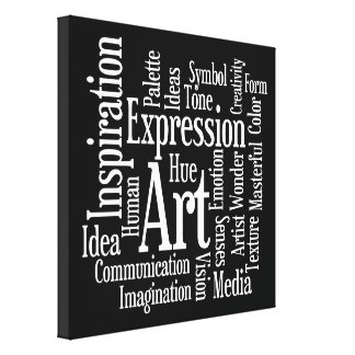 Big Bold Inspiration - Artists Creativity Words Canvas Print