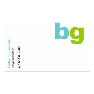 Big Bold Monogram Business Card