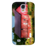 Big Bold Red Barn Galaxy S4 Covers