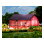 Big Bold Red Barn Posters