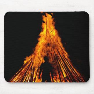 Big bonfire mouse pad