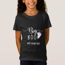 Big Boo Funny Halloween Ghost Siblings T-Shirt