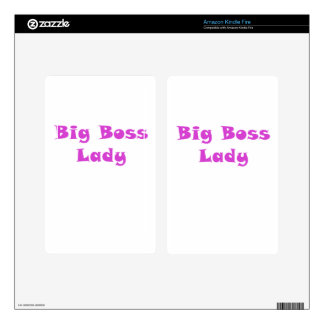 Big Boss Lady Kindle Fire Skin