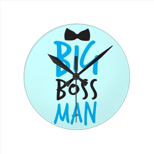 Big Boss man design NP Round Clock