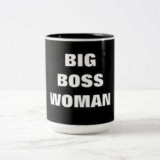 BIG BOSS WOMAN Two-Tone COFFEE MUG