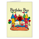 Big Bounce Boy 2nd Birthday Tshirts and Gifts Greeting Card