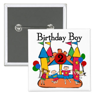 Big Bounce Boy 2nd Birthday Tshirts and Gifts Pinback Button