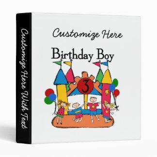 Big Bounce Boy 3rd Birthday T shirts and Gifts Binder