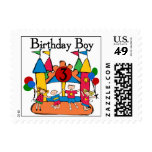 Big Bounce Boy 3rd Birthday T shirts and Gifts Postage Stamp