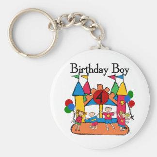 Big Bounce Boy 4th Birthday Tshirts and Gifts Basic Round Button Keychain
