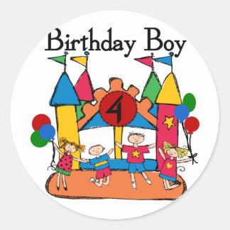 Big Bounce Boy 4th Birthday Tshirts and Gifts Classic Round Sticker