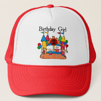 Big Bounce Girl 2nd Birthday Tshirts and Gifts Trucker Hat