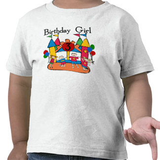 Big Bounce Girl 3rd Birthday Tshirts and Gifts