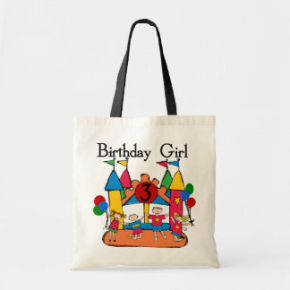 Big Bounce Girl 3rd Birthday Tshirts and Gifts Tote Bag