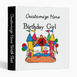 Big Bounce Girl 4th Birthday T-shirts and Gifts Vinyl Binders