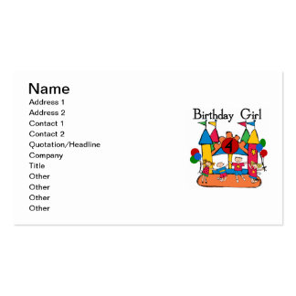 Big Bounce Girl 4th Birthday T-shirts and Gifts Double-Sided Standard Business Cards (Pack Of 100)