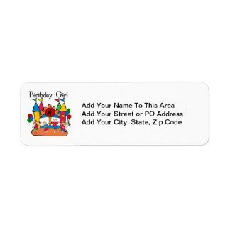 Big Bounce Girl 4th Birthday T-shirts and Gifts Label