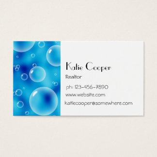 Big Bouncing Blue Bubbles Business Card
