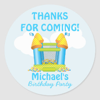 Big Bouncy Bounce House Birthday Favor Sticker