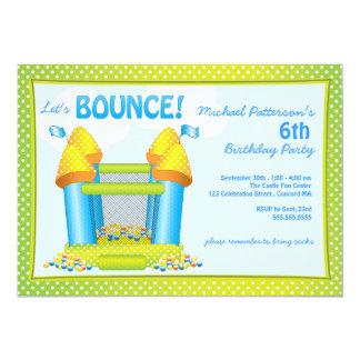 Big Bouncy Bounce House Birthday Party Invitation