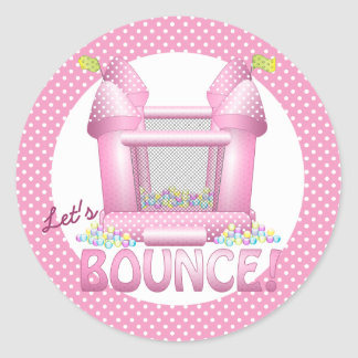 Big Bouncy Bounce House Birthday Seal Sticker