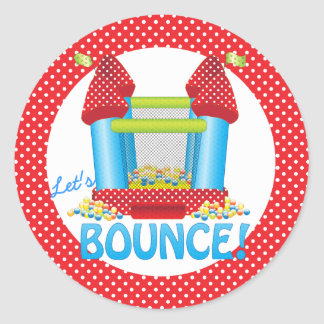 Big Bouncy Bounce House Birthday Seal Sticker