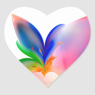 Big Bow Gift Box Heart Sticker