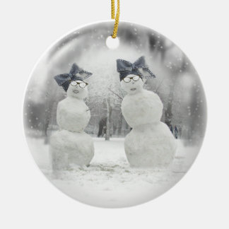 Big Bow Hat for Snowmen and the Holidays Christmas Tree Ornament