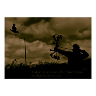 Big Bow Pheasant Hunting Poster