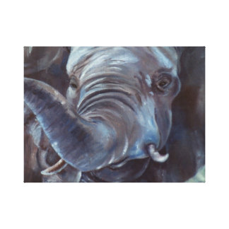 Big Boy Elephant Wrapped Canvas Print