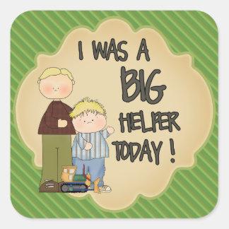 Big Boy Helper with Father Reward Sticker Green