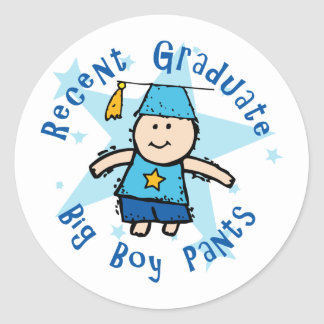 Big Boy Pants Classic Round Sticker